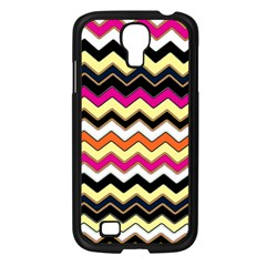 Colorful Chevron Pattern Stripes Pattern Samsung Galaxy S4 I9500/ I9505 Case (Black)