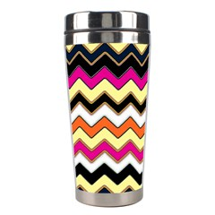 Colorful Chevron Pattern Stripes Pattern Stainless Steel Travel Tumblers