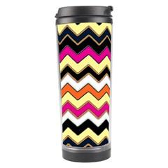 Colorful Chevron Pattern Stripes Pattern Travel Tumbler
