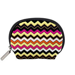 Colorful Chevron Pattern Stripes Pattern Accessory Pouches (Small)