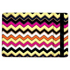 Colorful Chevron Pattern Stripes Pattern iPad Air Flip