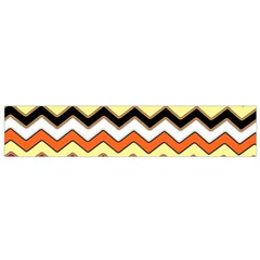 Colorful Chevron Pattern Stripes Pattern Flano Scarf (Small)