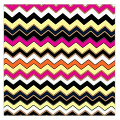 Colorful Chevron Pattern Stripes Pattern Large Satin Scarf (square)