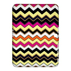 Colorful Chevron Pattern Stripes Pattern Samsung Galaxy Tab 4 (10.1 ) Hardshell Case