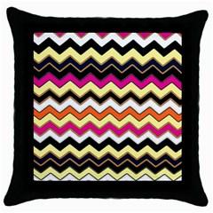 Colorful Chevron Pattern Stripes Pattern Throw Pillow Case (black)