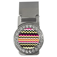 Colorful Chevron Pattern Stripes Pattern Money Clips (CZ)