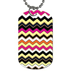 Colorful Chevron Pattern Stripes Pattern Dog Tag (One Side)
