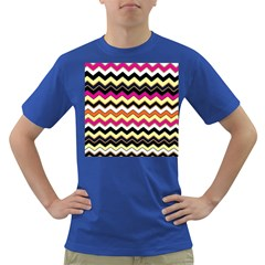 Colorful Chevron Pattern Stripes Pattern Dark T Shirt
