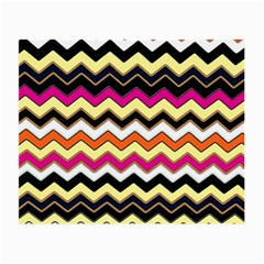 Colorful Chevron Pattern Stripes Pattern Small Glasses Cloth