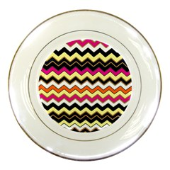 Colorful Chevron Pattern Stripes Pattern Porcelain Plates