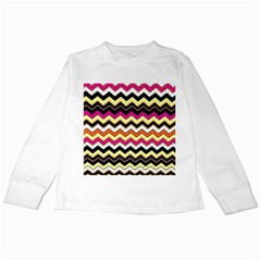 Colorful Chevron Pattern Stripes Pattern Kids Long Sleeve T Shirts
