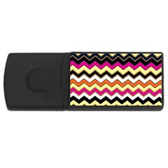 Colorful Chevron Pattern Stripes Pattern Usb Flash Drive Rectangular (4 Gb)