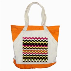Colorful Chevron Pattern Stripes Pattern Accent Tote Bag