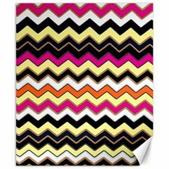 Colorful Chevron Pattern Stripes Pattern Canvas 8  X 10