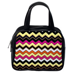 Colorful Chevron Pattern Stripes Pattern Classic Handbags (One Side)