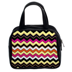 Colorful Chevron Pattern Stripes Pattern Classic Handbags (2 Sides)
