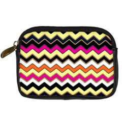 Colorful Chevron Pattern Stripes Pattern Digital Camera Cases