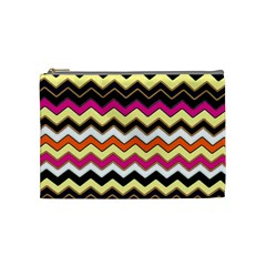 Colorful Chevron Pattern Stripes Pattern Cosmetic Bag (Medium)