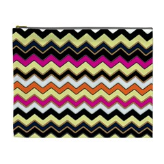 Colorful Chevron Pattern Stripes Pattern Cosmetic Bag (xl)