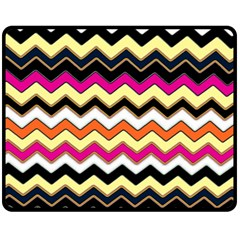 Colorful Chevron Pattern Stripes Pattern Fleece Blanket (Medium)