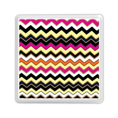 Colorful Chevron Pattern Stripes Pattern Memory Card Reader (square)