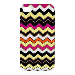 Colorful Chevron Pattern Stripes Pattern Apple Iphone 4/4s Hardshell Case