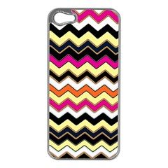 Colorful Chevron Pattern Stripes Pattern Apple iPhone 5 Case (Silver)