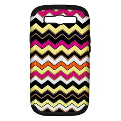Colorful Chevron Pattern Stripes Pattern Samsung Galaxy S III Hardshell Case (PC+Silicone)