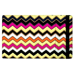 Colorful Chevron Pattern Stripes Pattern Apple iPad 2 Flip Case