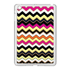 Colorful Chevron Pattern Stripes Pattern Apple Ipad Mini Case (white)