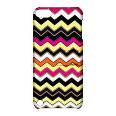 Colorful Chevron Pattern Stripes Pattern Apple iPod Touch 5 Hardshell Case with Stand