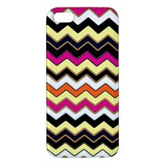 Colorful Chevron Pattern Stripes Pattern Apple iPhone 5 Premium Hardshell Case
