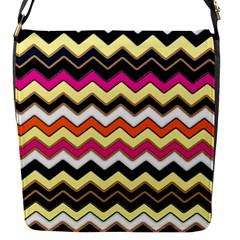 Colorful Chevron Pattern Stripes Pattern Flap Messenger Bag (S)