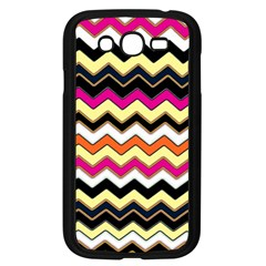 Colorful Chevron Pattern Stripes Pattern Samsung Galaxy Grand Duos I9082 Case (black)