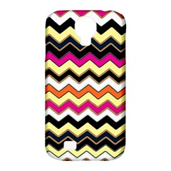 Colorful Chevron Pattern Stripes Pattern Samsung Galaxy S4 Classic Hardshell Case (pc+silicone)