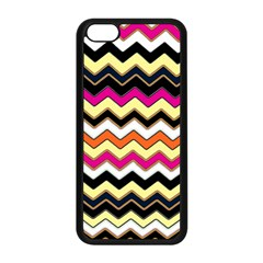 Colorful Chevron Pattern Stripes Pattern Apple iPhone 5C Seamless Case (Black)