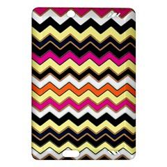 Colorful Chevron Pattern Stripes Pattern Amazon Kindle Fire HD (2013) Hardshell Case