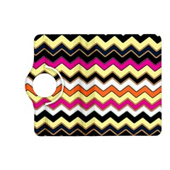 Colorful Chevron Pattern Stripes Pattern Kindle Fire HD (2013) Flip 360 Case