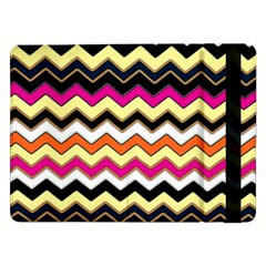 Colorful Chevron Pattern Stripes Pattern Samsung Galaxy Tab Pro 12 2  Flip Case