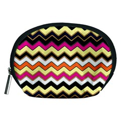 Colorful Chevron Pattern Stripes Pattern Accessory Pouches (Medium)