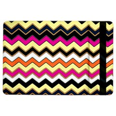 Colorful Chevron Pattern Stripes Pattern iPad Air 2 Flip