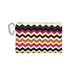 Colorful Chevron Pattern Stripes Pattern Canvas Cosmetic Bag (S)