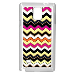 Colorful Chevron Pattern Stripes Pattern Samsung Galaxy Note 4 Case (white)