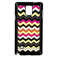 Colorful Chevron Pattern Stripes Pattern Samsung Galaxy Note 4 Case (black)