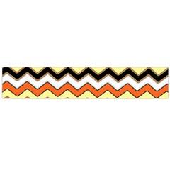 Colorful Chevron Pattern Stripes Pattern Flano Scarf (Large)