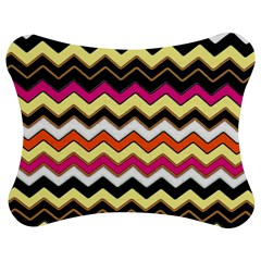 Colorful Chevron Pattern Stripes Pattern Jigsaw Puzzle Photo Stand (Bow)