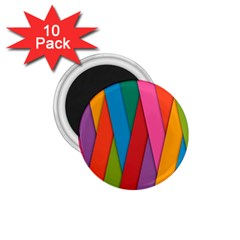 Colorful Lines Pattern 1.75  Magnets (10 pack)
