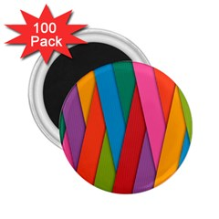 Colorful Lines Pattern 2.25  Magnets (100 pack)