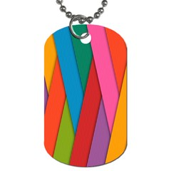 Colorful Lines Pattern Dog Tag (One Side)
