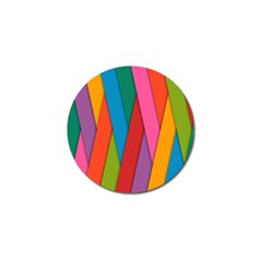 Colorful Lines Pattern Golf Ball Marker